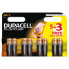 Duracell AA Plus Power 5+3 Free AA 60% Free Pack