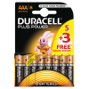 Duracell AAA Plus Power 5+3 Free AAA 60% Free Pack
