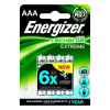 Energizer Battery Rechargeable Advanced NiMH Capacity 800mAh LR03 1.2V AAA Pack 4