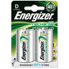Energizer Battery Rechargeable Advanced Size D 1.2V NiMH 2500mAh HR20 Pack 2