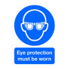 Signs & Labels A4 Eye Protection Must Be Worn PVC