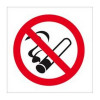 No Smoking Vehicle Sign Double-Sided White