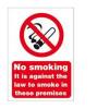 No Smoking Sign A4 SAV