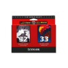 Lexmark Combo Pack No32/No33 Black/Colour