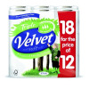 Triple Velvet 3 Ply Toilet Roll White Pack 18