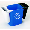 Deskside Recycling Bin Blue Bin