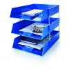 Initiative Plastic Letter Tray Blue 255w x 347d x 55h mm