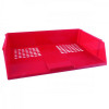 Basic Letter Tray Wide Entry High-impact Polystyrene Stackable Red