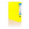 Initiative Lever Arch File Foolscap Yellow Metal Shoe and Thumbring