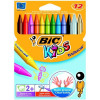 Bic Kids Plastidecor Colour Crayons Assorted Wallet of 12