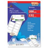 Decadry Place Cards for Folding 200gsm 2 per A4 Sheet 210x63.5mm Pack 44