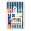 Staedtler Triplus Color Fibre Tip Pen Assorted (Pack of 10)
