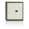 Initiative Stationery Cupboard 1000mm 1 Shelf Coffee Cream