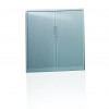 Initiative Side Open Tambour Cupboard 1570mm Grey