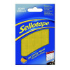 Sellotape Sticky Hook Pads Yellow Pack 96