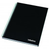Initiative Hardback Twinwire Bound Notebook A5 Feint Ruled Perforated 70gsm 160 Pages