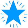 Xclamation Blue Star Stamp