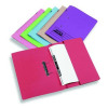 Rexel Jiffex Pocket File Foolscap 32mm Capacity Blue