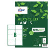 Avery Recycled Labels 99.1x67.7mm White (100) LR7165-100