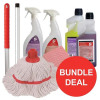 5 Star Washroom Cleaning Bundle with Mop/Cloths/Cleaning Fluids [Bundle Offer]