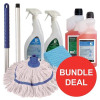 5 Star General Cleaning Bundle with Mop/Cloths/Cleaning Fluids [Bundle Offer]