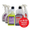 5 Star Facilities Floor Cleaner & 2-in-1 Toilet & Washroom Cleaner 1 Litre [FREE 750ml Trigger Bottles]