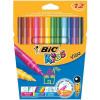 Bic Kids Visa Felt Tip Pens Washable Fine Tip Assorted Ref 888695 [Pack 12] *2017 Mailer*