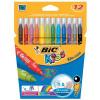 Bic Kids Couleur Felt Tip Pens Water-based Medium Tip Assorted Ref 841798 [Pack 12] *2017 Mailer*