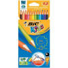 Bic Kids Evolution Pencils Colour Splinter-proof Vivid Assorted Ref 829029 [Wallet 12] *2017 Mailer*