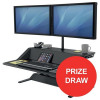 Fellowes Lotus Sit-Stand Workstation Smooth Lift Black Ref 7901 [Competition Offer] Apr-Jun 2017