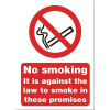Stewart Superior Sign No Smoking A5 Self-adhesive Vinyl Ref SB003 *2017 Mailer*