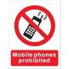 Stewart Superior Mobile Phones Prohibited Self Adhesive Sign Ref P087SAV *2017 Mailer*