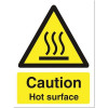 Stewart Superior Catering Sign Caution Hot SurfaceSelf Adhesive W150xH200mm Ref CS005SAV *2017 Mailer*