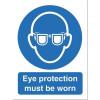 Stewart Superior Eye Protection Must Be Worn Self Adhesive Sign Ref M004SAV *2017 Mailer*