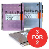Pukka Pad Project Book Wirebound 200pp 80gsm A4 Metallic Ref 6970-MET [Pack 3] [3 For 2] Jul-Sep 2017