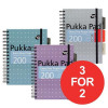 Pukka Pad Executive Project Book A5 Metallic Ref 6336-MET [Pack 3] [3 For 2] Jul-Sep 2017