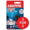 Loctite Super Glue Easy Brush in Anti-spill safety Bottle 5g Ref 87819150 [3 For 2] Jul-Sep 2017