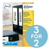 Avery Filing Labels Laser Lever Arch 4 per Sheet 200x60mm Ref L7171-100 [400 Labels] [3 For 2] Sep 2017