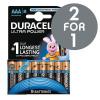 Duracell Ultra Power MX2400 Battery Alkaline 1.5V AAA Ref 81235515 [Pack 8] [2 For 1] Nov-Dec 2017