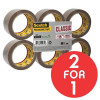 Scotch Classic Packaging Tape W50mmxL66m Buff Ref CL5066F6B [Pack 6] [2 For 1] Oct 2017