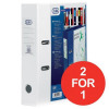 Elba Lever Arch File Clear PVC Cover 70mm Spine A4 White Ref 100080894 [Pack 10] [2 For 1] Jan-Mar 2018