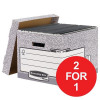 Fellowes Bankers Box System Standard Storage Box Foolscap Ref 00810-FF [Pack 10][2 For 1] Jan-Mar 2018