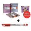 Pukka Pad Project Book Wirebound 200pp 80gsm A4 Metallic Ref 6970-MET [Pack 3] Jan-Mar 2018