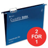 Rexel Crystalfile Extra Suspension File 15mm Foolscap Blue Ref 70630 [Pack 25] [2 For 1] Apr-Jun 2018