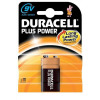 Duracell Plus Power MN1604 Battery Alkaline 9V Ref 81275454