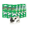 Sellotape Clever Tape Write On Copier Friendly Tearable 18mmx15m and Dispenser Ref 1727072 [6 Rolls]