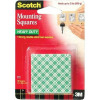 Scotch Mounting Squares Permanent Pre-Cut 25x25mm Ref 111 [Pack 4]