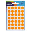 Avery Packets of Labels Diam.13mm Fluorescent Orange Ref 32-510 [Pack 245]