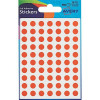 Avery Packets of Labels Diam.8mm Orange Ref 32-271 [560 Labels]