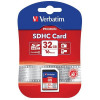 Verbatim SDHC Media Memory Card SD 2.0 FAT32 Class 10 Read 10MB/s Write 10MB/s 32GB Ref 43963